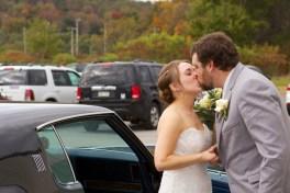 Bride being escorted