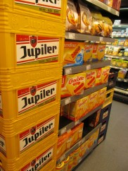 jupiler is the beer advertised on nearly every dive bar around. haven't tried it yet but i'm picturing something above keystone and below bud light. could be totally wrong, sorry if you find that offensive. haha