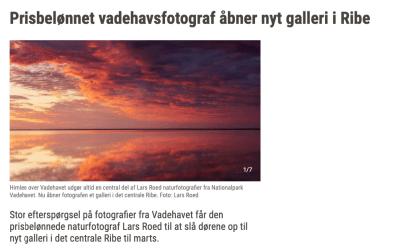 JydskeVestkysten skriver om Galleri Vadehavet