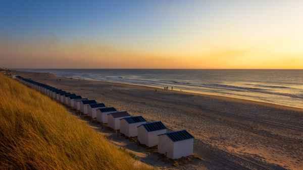 diagonal sunset in Texel