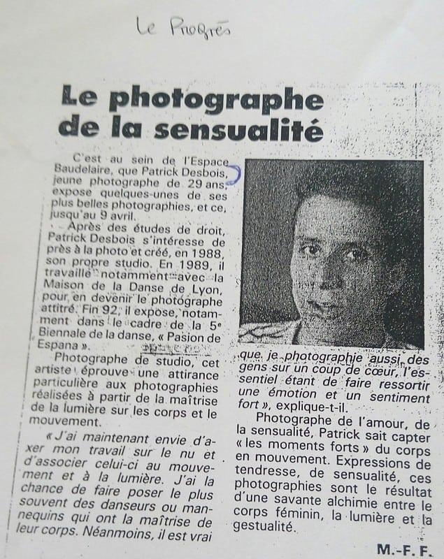 Patrick Desbois photographe spécialiste expert des images sensuelles, de la sensualité et de l'amour de