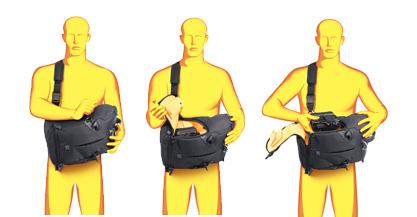 Kata 3N1 sling cu acces rapid la echipamentul foto