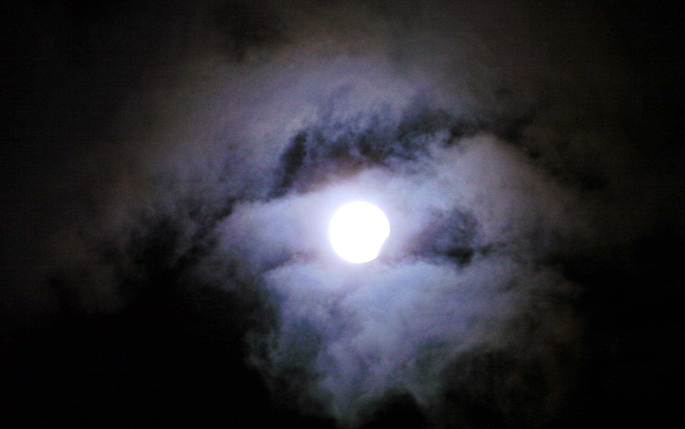 Blue moon lunar eclipse on December 31, 2009