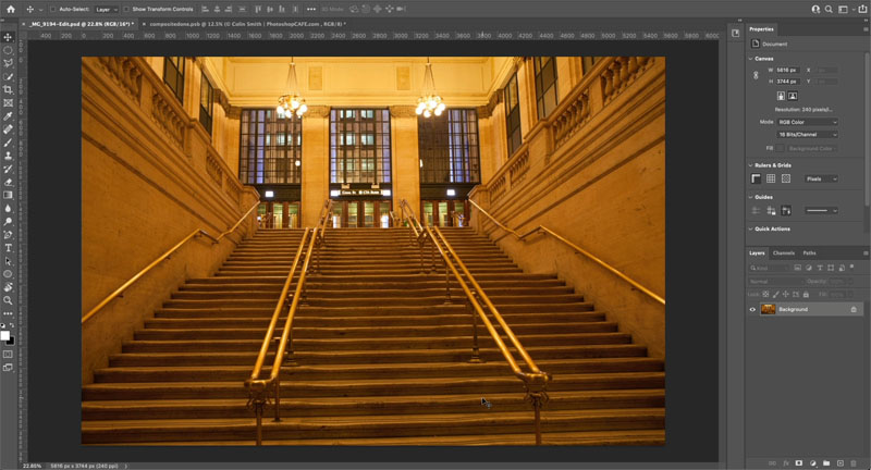HIDDEN BUTTON TO INSTANTLY FIX COLOR OF PHOTO IN PHOTOSHOP 1