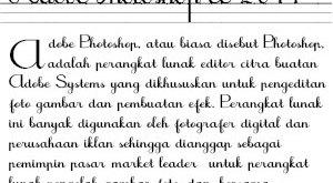 Ciptakan Teks yang Indah dengan Font Tegak Bersambung