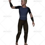 A man saying hello 3d render stock image
