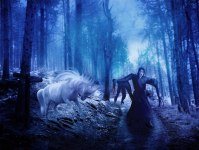 scream by nishagandhi horse forest night scary the scream movie halloween