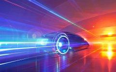 futuristic car painting