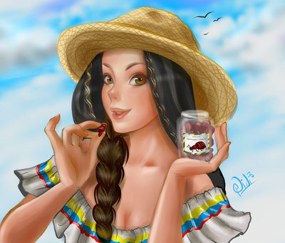 Girl digital illustration by Didi-Esmeralda