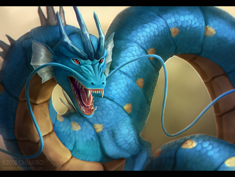 pokemon realistic blue dragon