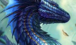 fantasy digital artist blue dragon