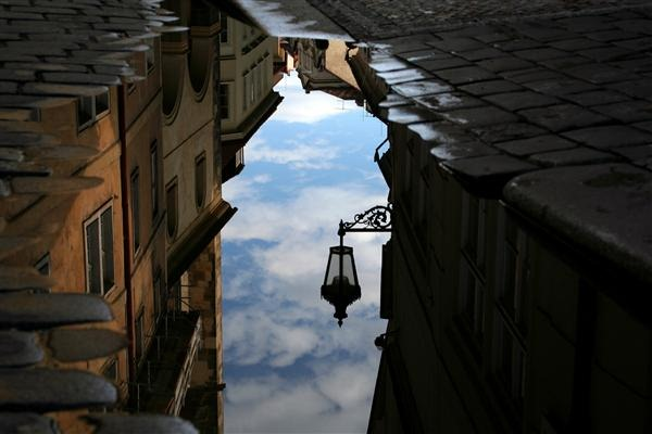 Reflection of the Street Lamp