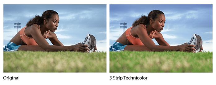 3 Strip Technicolor Comparison