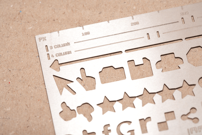 Closeup of Website Stencil Kit