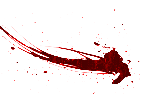 Abstract blood splatter