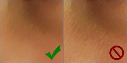 Correct Skin Texture