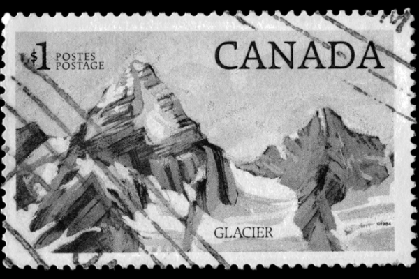 B&W preview of Canadian stamp