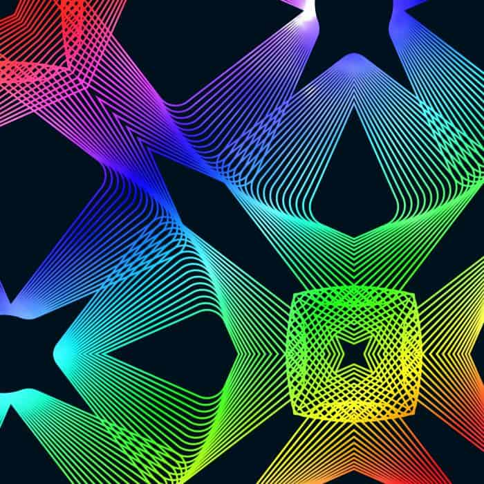 Rainbow Spirograph Pattern
