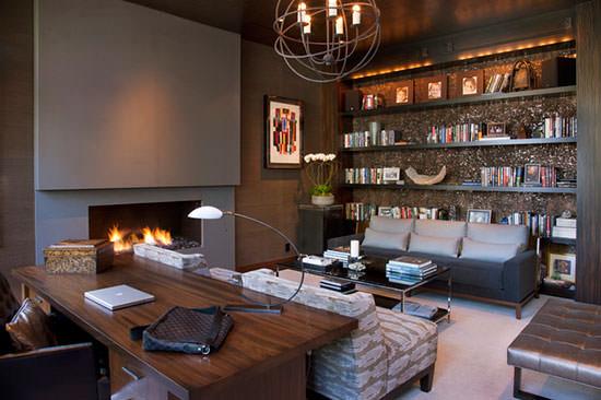 Study Contemporary Home Room