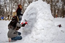 Kurdistan Province, Iran - Marivan, Snowman Festival 05
