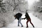 Snowfall in Tabriz Iran 7
