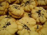 Iran Nowruz New Year Food and Sweets - Nan-e berenji (rice cookies)