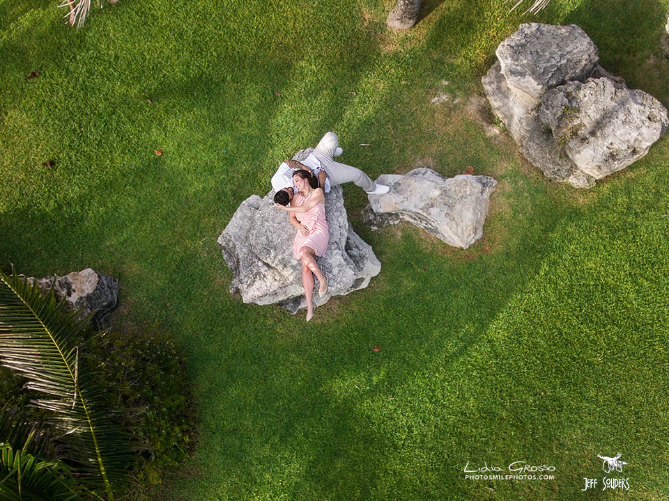See how it is done elizabeth and fernando engagement for Drone wedding photos