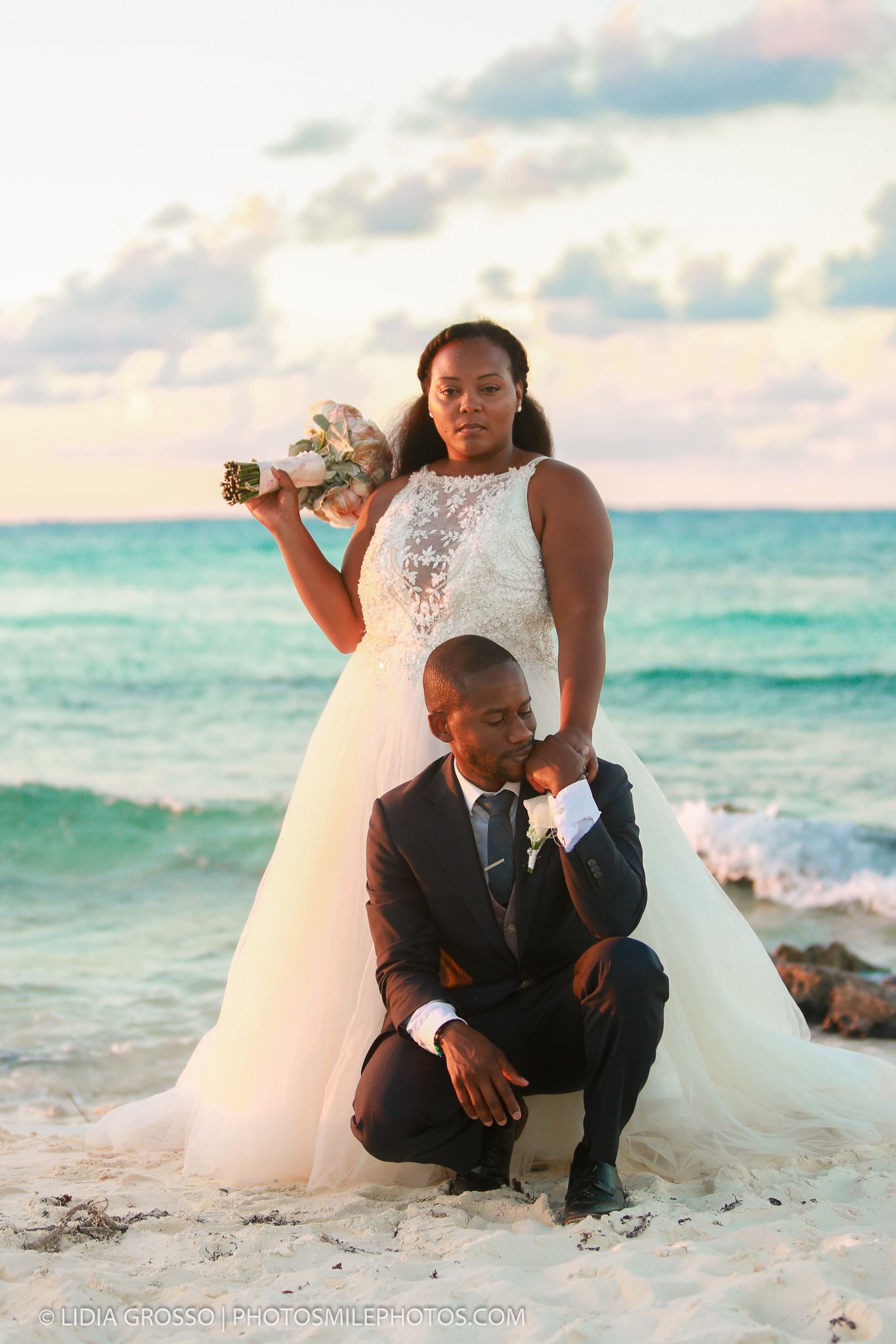 cancun wedding photos, a day after session photos, Hyatt Ziva Cancun wedding photographer, best beach wedding photos