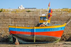 Port de Sauzon à marée basse.