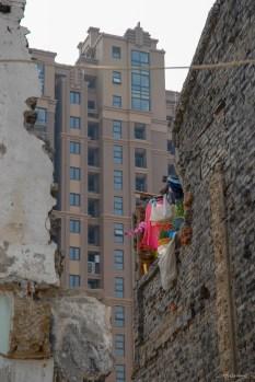 Shangai, ancien et nouveau quartier - Chine