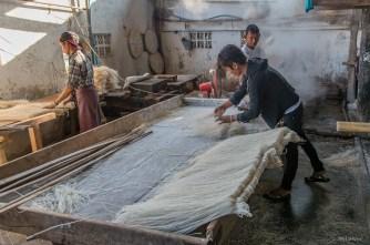 fabrique de nouilles chinoises à Hsipaw
