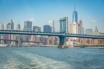 Manhattan Bridge et Brooklyn bridge New York