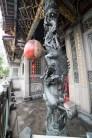 Pilier sculpté - Temple taoiste - Tapei - Taiwan.