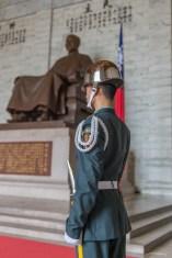 La garde du Mémorial Chiang Kai Shek - Tapei - Taiwan.