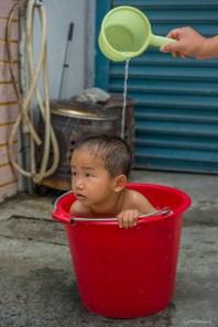 Bain d'un enfant, Kenting - Taiwan.