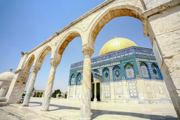 Der Felsendom gilt als ältester Sakralbaus des Islams. Jerusalem, Israel. Juli 2017 // The Dome of the Rock is the oldest sacred building of the Islam in Jerusalem, Israel. July 2017.