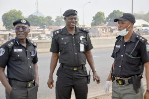PHOTO: Ciroma, Alkali, Idowu, during enforcement, of Federal Government's directive on social distancing