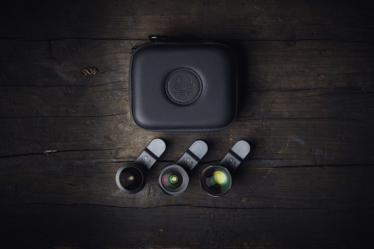 Black Eye's Pro Kit G4 is a one-kit solution for pro-level mobile photography and filmmaking. It features three new Pro lenses - the Pro Portrait Tele G4, Pro Fisheye G4, and Pro Cinema Wide G4. The durable, compact travel case makes it easy and convenient to travel with the lens set. A $300 value for $250. That's about a tenth of the cost and weight of DSLR camera backpack with all of its accessories.