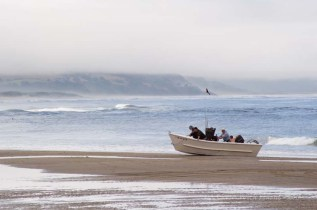 Fishing Boat beaching, Pacific City, Oregon