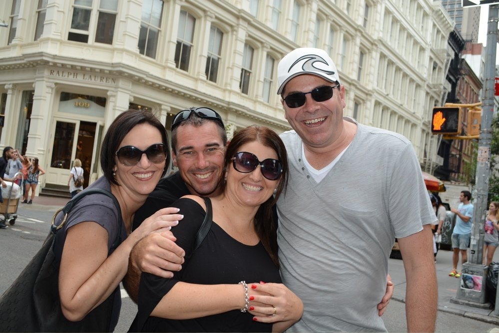 Friends in SoHo enjoying a private tour