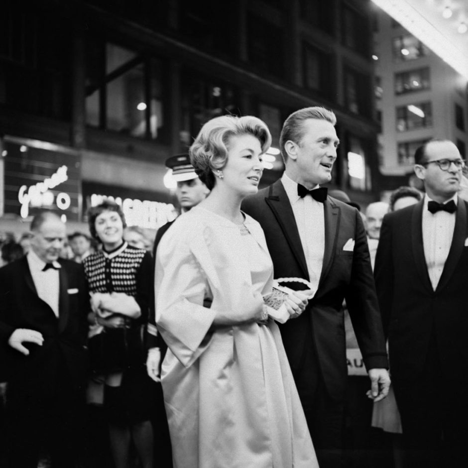 © Vivian Maier, Kirk Douglas at the premiere of the movie Spartacus in Chicago, IL. October 13, 1960