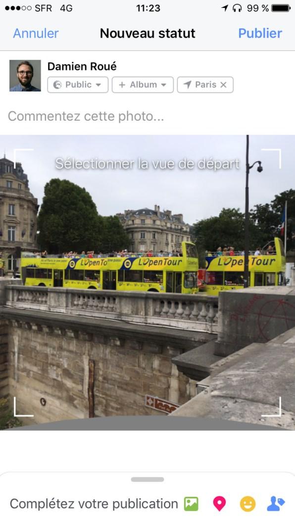 Attention, les photos 360 peuvent vite faire des choses bizarres, comme ce bus à plusieurs wagons.