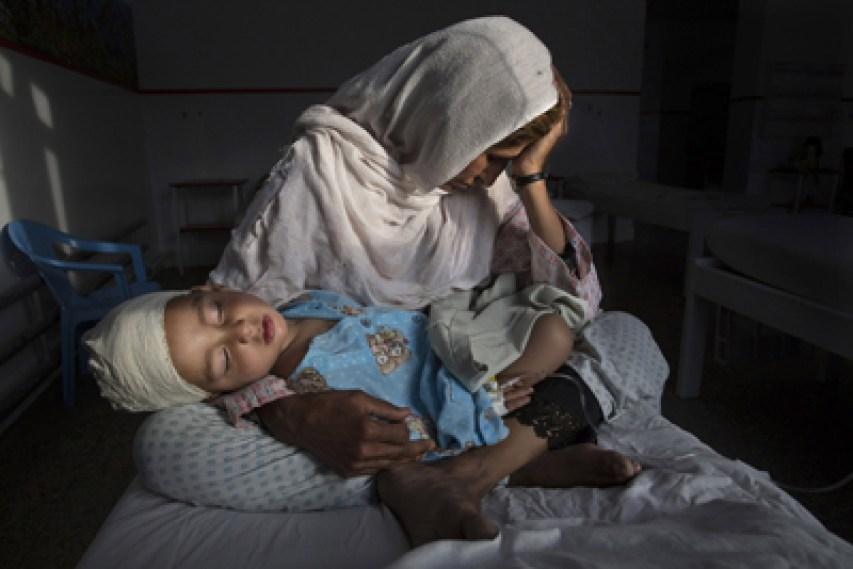 Blessés par la guerre en Afghanistan © Paul Bronstein
