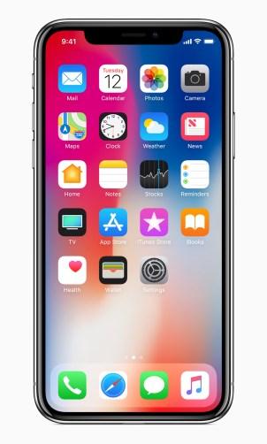 iPhone X - écran d'accueil