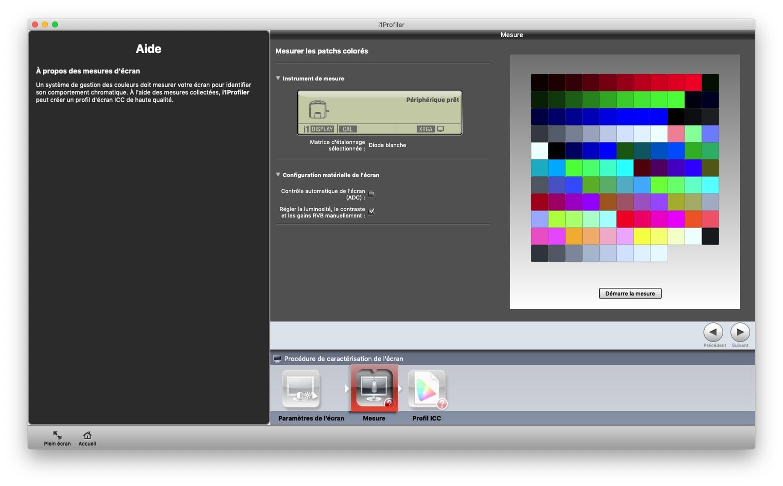 Test de la sonde i1 Display Pro de X-Rite