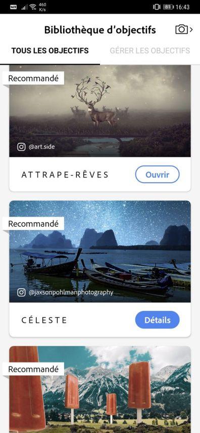 Photoshop Camera Objectifs 3 Web