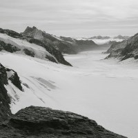 Black and White - Eiger & Jungfraujoch railway