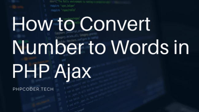How to Convert Number to Words in PHP Ajax