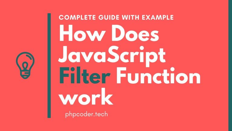 How Does JavaScript Array Filter Function work With Example