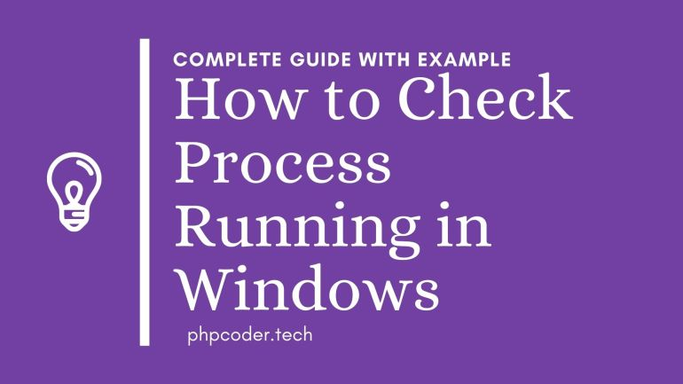how to check if a windows task is running using PHP